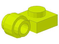 %4081b プレート[黄緑]1x1側面に水平ポッチ2個付