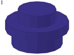 %4073 プレート[青紫]1x1(丸)