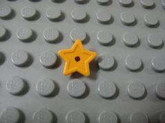 %11609 プレート[パステルオレンジ]1x1(丸、星)