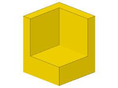 %6231 パネル[黄]1x1x1(コーナー)