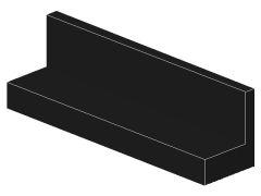 %30413 パネル[黒]1x4x1