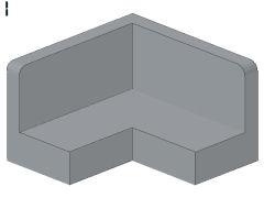 %91501 パネル[新灰]2x2x1(コーナー)