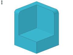 %6231 パネル[アズール青]1x1x1(コーナー)