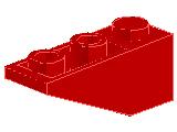 %4287 逆スロープ33度[赤]3x1(斜面:粒大)