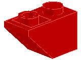 %3665 逆スロープ45度[赤]2x1(斜面:粒大)