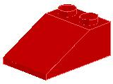 %3298 スロープ33度[赤]3x2(斜面:粒大)