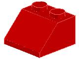%3039 スロープ45度[赤]2x2(斜面:粒大)