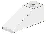 %4286 スロープ33度[白]3x1(斜面:粒大)