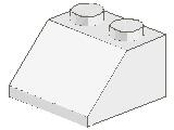 %3039 スロープ45度[白]2x2(斜面:粒大)