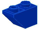 %3665 逆スロープ45度[青]2x1(斜面:粒小)