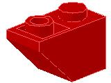 %3665 逆スロープ45度[赤]2x1(斜面:粒小)