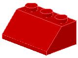%3038 スロープ45度[赤]2x3(斜面:粒小)