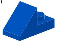 %92946 スロープ45度[青]2x1(1ポッチプレート)