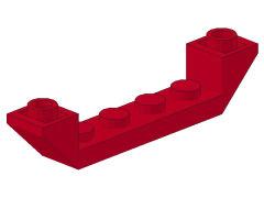 %52501 逆スロープ45度[赤]6x1(両側傾斜、斜面:粒大)