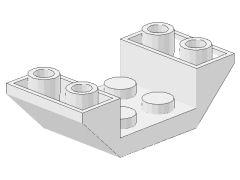 %4871 逆スロープ45度[白]4x2(両側傾斜、斜面:粒大)
