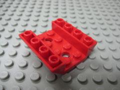 %72454 逆スロープ45度[赤]4x4(両側傾斜、穴開き、斜面:粒大)