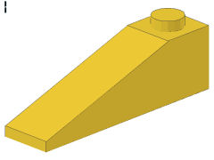%60477 スロープ18度[黄]4x1(斜面:粒大)