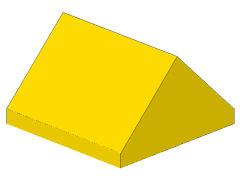 %3043 スロープ75度[黄]2x2(両側傾斜、斜面:粒大)