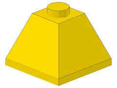 %3045 スロープ45度[黄]2x2(隣り合う2方向傾斜、斜面:粒大)