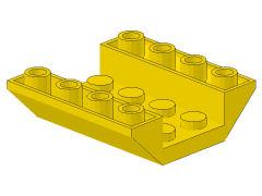 %4854 逆スロープ45度[黄]4x4(両側傾斜、斜面:粒大)