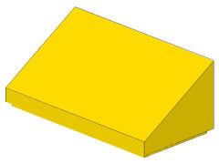 %85984 スロープ33度[黄]1x2x2/3(斜面:粒無)