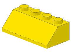 %3037 スロープ45度[黄]2x4(斜面:粒小)