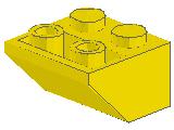 %3660 逆スロープ45度[黄]2x2(斜面:粒大)
