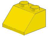 %3039 スロープ45度[黄]2x2(斜面:粒大)