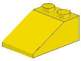 %3298 スロープ33度[黄]3x2(斜面:粒大)
