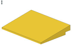 %4515 スロープ10度[黄]6x8(斜面:粒小)