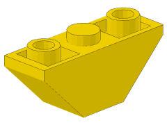 %2341 逆スロープ33度[黄]3x1(両側傾斜:斜面:粒大)