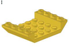 %30283 逆スロープ45度[黄]6x4(両側傾斜、斜面:粒大)
