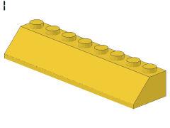 %4445 スロープ45度[黄]2x8(斜面:粒小)