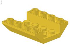 %72454 逆スロープ45度[黄]4x4(両側傾斜、穴開き、斜面:粒大)
