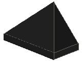 %3048 スロープ45度[黒]1x2(3方向傾斜、斜面:粒大)