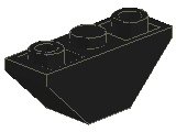 %2341 逆スロープ45度[黒]3x1(両側傾斜、斜面:粒大)