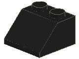 %3039 スロープ45度[黒]2x2(斜面:粒大)