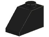 %3040 スロープ45度[黒]2x1(斜面:粒大)