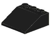 %4161 スロープ33度[黒]3x3(斜面:粒大)