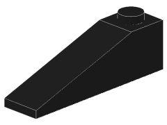 %60477 スロープ18度[黒]4x1(斜面:粒大)