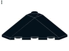 %43708 スロープ18度[黒]4x4(コーナー)