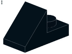 %92946 スロープ45度[黒]2x1(1ポッチプレート)