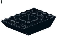 %30183 逆スロープ45度[黒]6x4(両側傾斜、斜面:粒大)