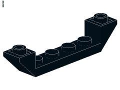 %52501 逆スロープ45度[黒]6x1(両側傾斜、斜面:粒大)
