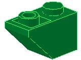 %3665 逆スロープ45度[緑]2x1(斜面:粒大)