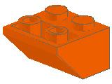 %3660 逆スロープ45度[オレンジ]2x2(斜面:粒大)
