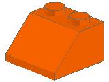 %3039 スロープ45度[オレンジ]2x2(斜面:粒大)