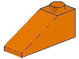 %4286 スロープ33度[オレンジ]3x1(斜面:粒大)