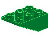 %3747 逆スロープ33度[緑]3x2(斜面:粒小)
