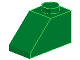 %3040 スロープ45度[緑]2x1(斜面:粒大)
